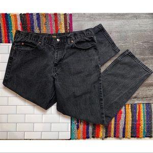 Lee Black Regular Fit Straight Leg Jeans 38X32